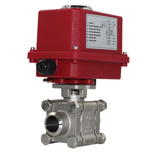 AV-L81EBW Butt Weld Stainless Steel Heavy Duty Motorised Ball Valves